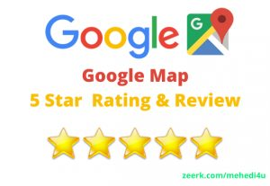 I will provide you 10 google map review for lifetime just in 7$ || 100% original