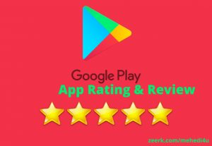 I will give 7, rating & review on your app just in 5$ || Permanent || 100% Original