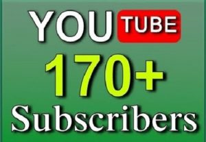 170 YouTube real and active channel subscribers give you