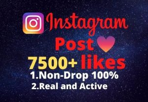 I will provide you 7500+real/organic Instagram posts like