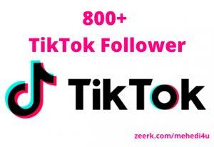 I will provide 800+ real TikTok Followers just in 8$ || 100% original