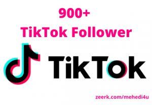 I will provide 900+ real TikTok Followers || 100% original