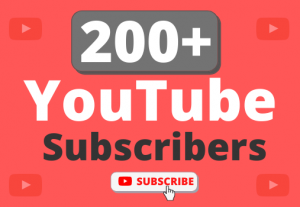 Instant Start 200+ Organic YouTube Subscribers