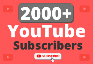 Instant Start 2000+ Organic YouTube Subscribers