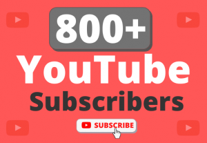 Instant Start 800+ Organic YouTube Subscribers
