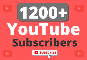 Instant Start 1200+ Organic YouTube Subscribers