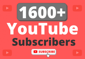 Instant Start 1600+ Organic YouTube Subscribers
