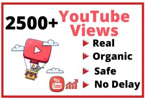 Get 2500+ Real and Organic YouTube views