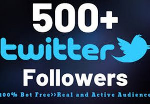 Get 500 Twitter Followers Real & Active Profiles| Non- Drop |Guarantee forever