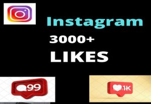 I will add 3000+ Active and non drop Instagram Likes.