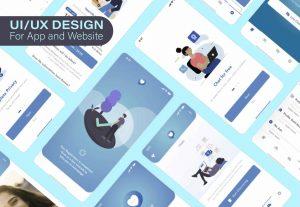 I will design professional web or mobile app UI UX in adobe xd