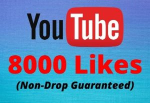 8000 Youtube Likes in your youtube video 100% Guaranteed