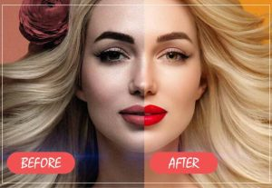 I will do professional portrait retouching business photo beautify