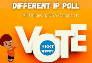 Get 300+ Different Ip poll contest votes.