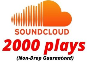 Provide 2000 SoundCloud Plays Non-Drop Lifetime Guaranteed