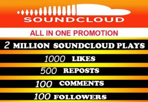 2,000,000+ (2 Million) SOUDCLOUD PLAYS with all in one