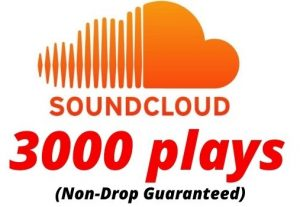 Provide 3000 SoundCloud Plays Non-Drop Lifetime Guaranteed