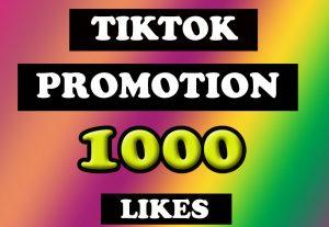 TikTok 1000 High Quality Organic Likes