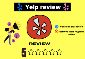 I will provide you verified non-drop yelp 5-star review