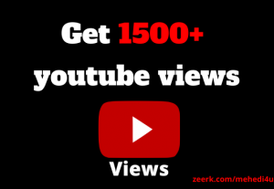 I will add 1500+ views to your youtube video