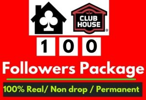 Get 100+ Clubhouse Followers [Package] [Non Drop]