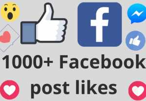 I will add 1000+ REAL AND non drop Facebook post /photos or video likes
