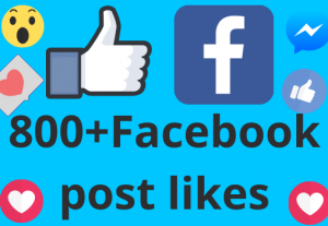 I will add 800+ REAL AND non drop Facebook post /photos or video likes