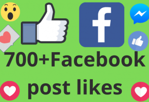 I will add 700+ REAL AND non drop Facebook post /photos or video likes