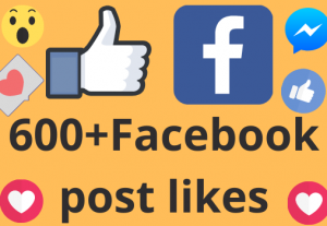 I will add 600+ REAL AND non drop Facebook post /photos or video likes