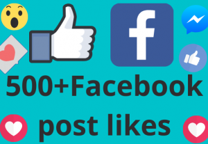 I will add 500+ REAL AND non drop Facebook post /photos or video likes
