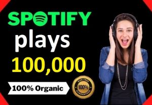 100,000 HQ Spotify Streams Plays Music Promotion