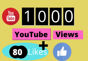 You will get 1000+ YouTube views Real Non-drop And Permanent Guaranteed