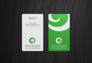 I will design a vertical business card within 12 hours