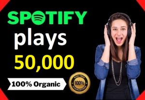 50,000 HQ Spotify Streams Plays Music Promotion