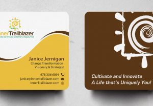 I will design a square business card within 12 hours