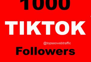 Get 1000 TIKTOK Followers 12 hrs Delivery