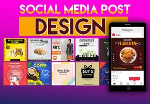 I will design a social media post, cover art, and Banner