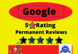 I will provide 5 permanent 5-star rating google review for your website with level 5
