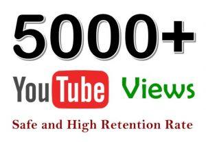I send you 5K None Drop Youtube views none drop guaranteed