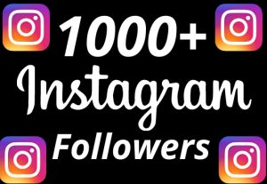 I will add 1000+ REAL AND non drop Instagram followers