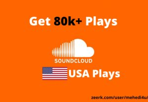 Get 80k+ SoundCloud Plays from USA accounts ||  Lifetime Guarantee || 100 % Permanent