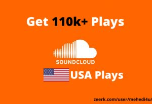 Get 110k+ SoundCloud Plays from USA accounts ||  Lifetime Guarantee || 100 % Permanent