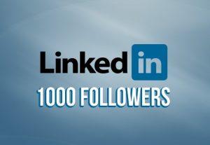 LINKEDIN 1000+ followers none drop