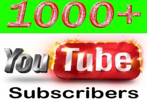 I Will Provide Your 1000+ YouTube Subscriber Non Drop