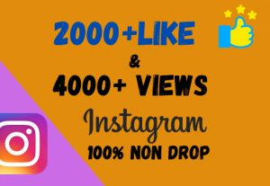 Get 2000+ Video Like & 4000+ Video Views On Instagram 100% Non Drop