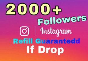 Get 2000+ Followers on Instagram . Non drop guaranteed!