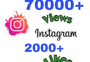 Get 70000+ Video Views & 2000+ Likes on Instagram !! Instant & HQ