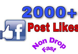 I will add 2000+ Likes on Facebook Post . Very fast and Non Drop!