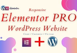 I will make a WordPress website with Elementor Pro page builder