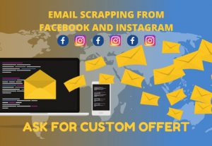 I will do email scrapping from Facebook